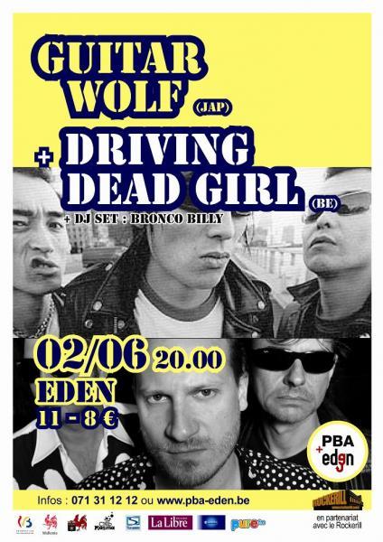 Guitar Wolf - Concert à l'Eden