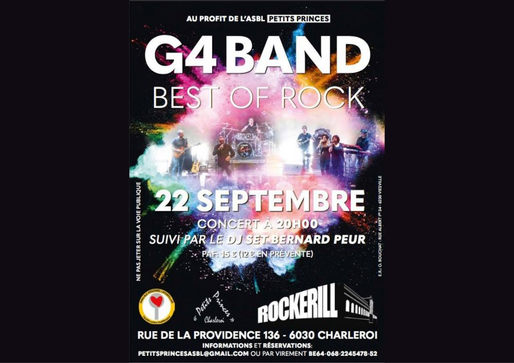 G4 Band en Concert au Rockerill + DJ set Bernard Peur
