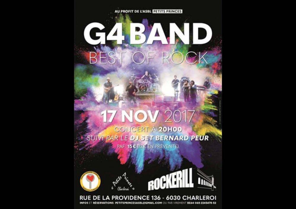 Concert G4 au profit de l'ASBL