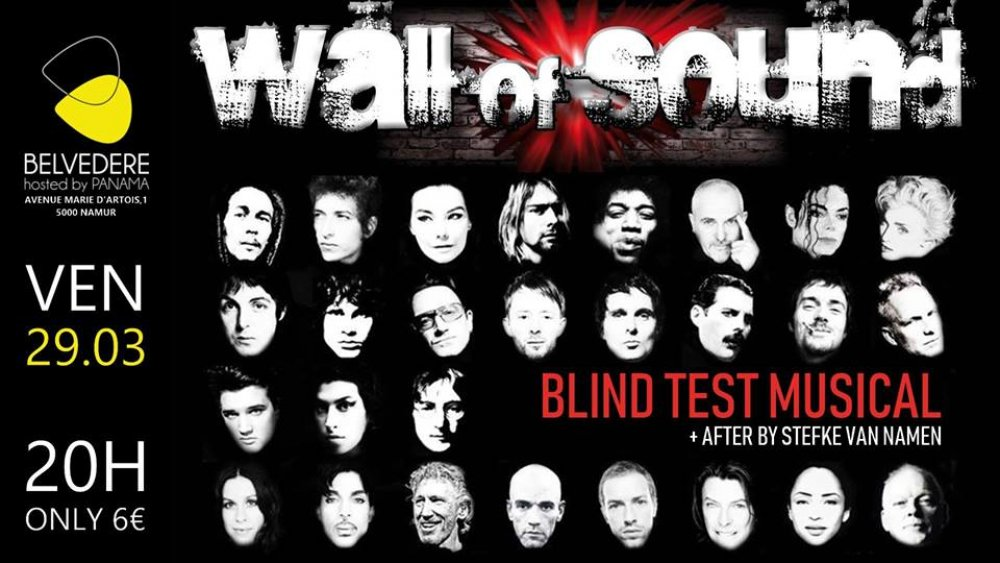 WALL OF SOUND // BLIND TEST MUSICAL + AFTER BY STEFKE VAN NAMEN